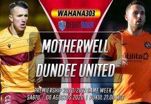 Prediksi Motherwell vs Dundee United 8 Agustus 2020