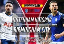 Prediksi Tottenham Hotspur vs Birmingham City 29 Agustus 2020