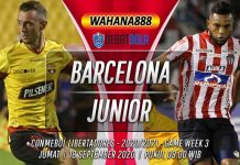 Prediksi Barcelona SC vs Atletico Junior 18 September 2020
