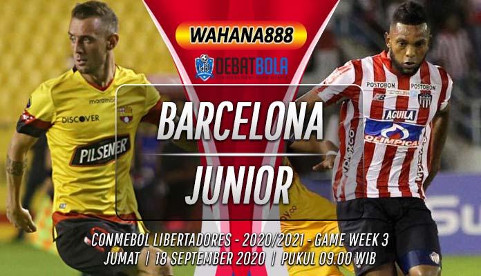 Prediksi Barcelona SC vs Atletico Junior 18 September 2020