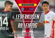 Prediksi Bayer Leverkusen vs RB Leipzig 26 September 2020
