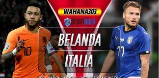 Prediksi Belanda vs Italia 8 September 2020