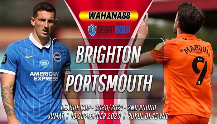 Prediksi Brighton vs Portsmouth 18 September 2020