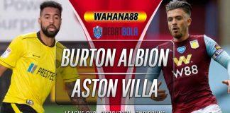 Prediksi Burton Albion vs Aston Villa 16 September 2020