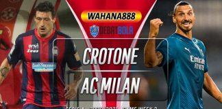 Prediksi Crotone vs AC Milan 27 September 2020
