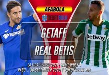 Prediksi Getafe vs Real Betis 30 September 2020