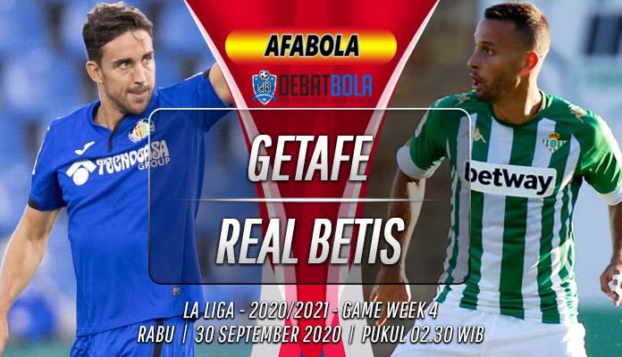 Prediksi Getafe vs Real Betis 30 September 2020