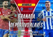 Prediksi Granada vs Deportivo Alavés 20 September 2020