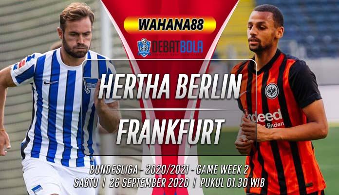 Prediksi Hertha Berlin vs Eintracht Frankfurt 26 September 2020