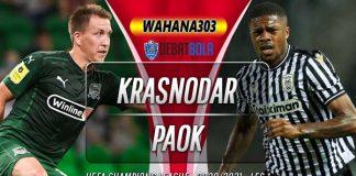 Prediksi Krasnodar vs PAOK 23 September 2020