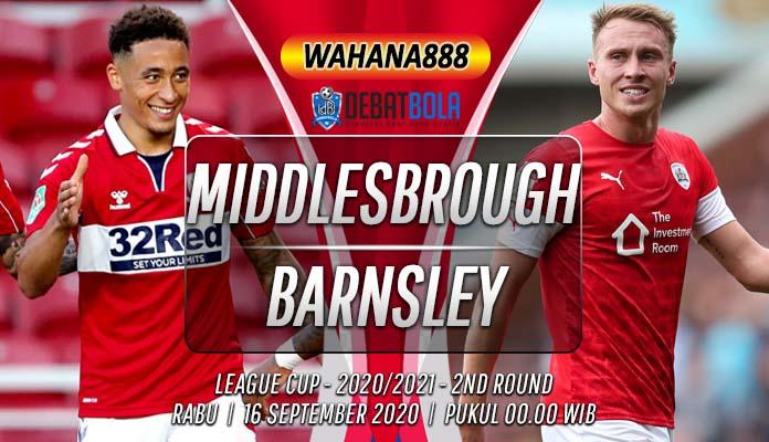 Prediksi Middlesbrough vs Barnsley 16 September 2020