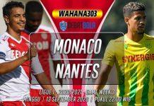 Prediksi Monaco vs Nantes 13 September 2020