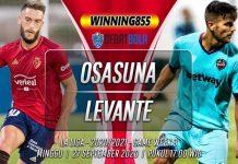 Prediksi Osasuna vs Levante 27 September 2020