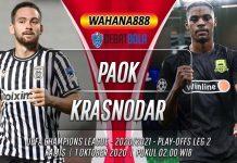 Prediksi PAOK vs Krasnodar 1 Oktober 2020