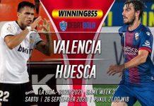 Prediksi Valencia vs Huesca 26 September 2020