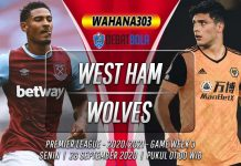 Prediksi West Ham vs Wolves 28 September 2020