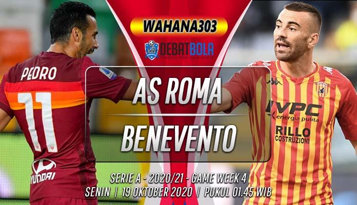 Prediksi AS Roma vs Benevento 19 Oktober 2020