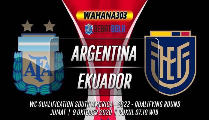 Prediksi Argentina vs Ekuador 9 Oktober 2020