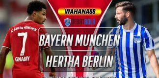 Prediksi Bayern Munchen vs Hertha Berlin 4 Oktober 2020