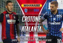 Prediksi Crotone vs Atalanta 31 Oktober 2020