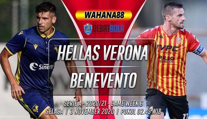 Prediksi Hellas Verona vs Benevento 3 November 2020