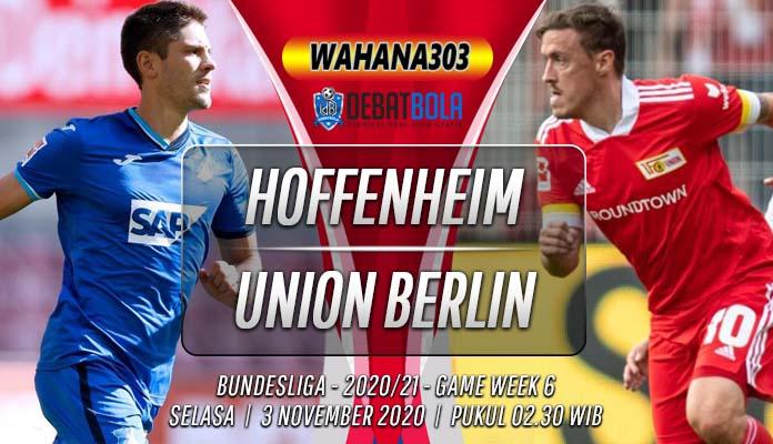 Prediksi Hoffenheim vs Union Berlin 3 November 2020