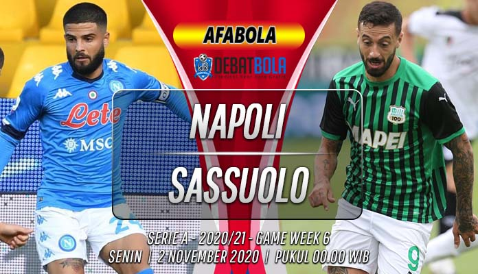Prediksi Napoli vs Sassuolo 2 November 2020