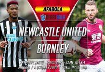 Prediksi Newcastle United vs Burnley 4 Oktober 2020
