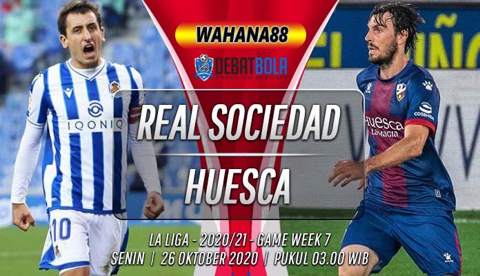 Prediksi Real Sociedad vs Huesca 26 Oktober 2020
