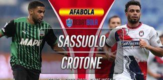 Prediksi Sassuolo vs Crotone 3 Oktober 2020