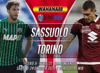 Prediksi Sassuolo vs Torino 24 Oktober 2020