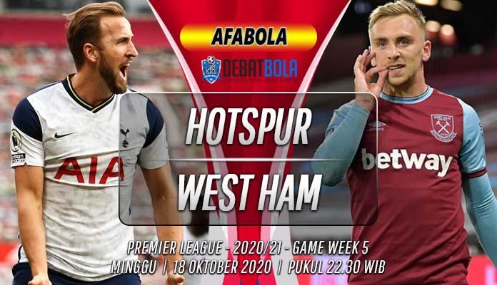 Prediksi Tottenham Hotspur vs West Ham 18 Oktober 2020
