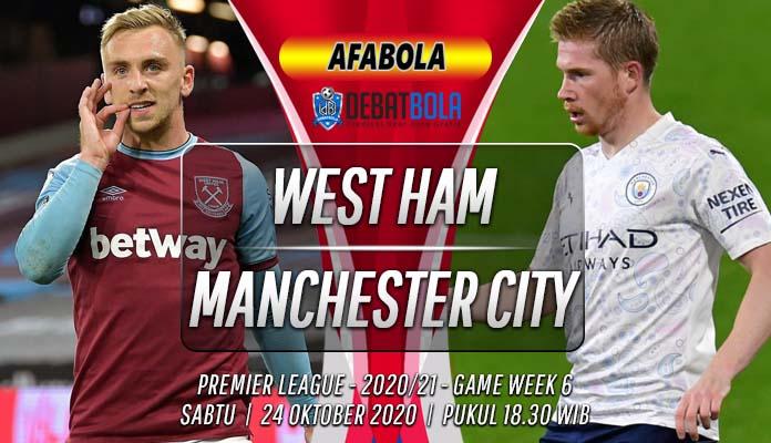 Prediksi West Ham vs Manchester City 24 Oktober 2020