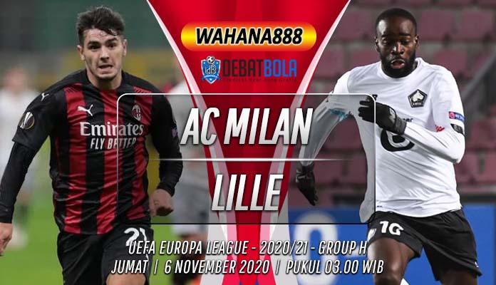 Prediksi AC Milan vs Lille 6 November 2020
