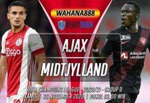 Prediksi Ajax vs Midtjylland 26 November 2020