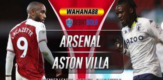 Prediksi Arsenal vs Aston Villa 9 November 2020