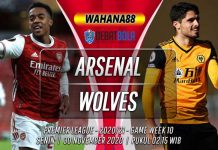 Prediksi Arsenal vs Wolves 30 November 2020