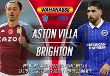Prediksi Aston Villa vs Brighton 21 November 2020