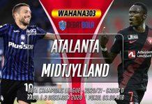 Prediksi Atalanta vs Midtjylland 2 Desember 2020