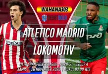 Prediksi Atletico Madrid vs Lokomotiv Moscow 26 November 2020