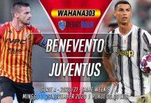 Prediksi Benevento vs Juventus 29 November 2020