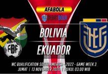 Prediksi Bolivia vs Ekuador 13 November 2020