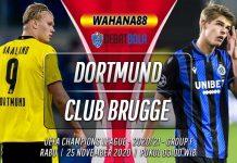 Prediksi Borussia Dortmund vs Club Brugge 25 November 2020