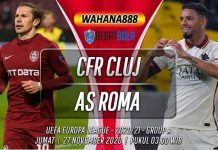 Prediksi CFR Cluj vs AS Roma 27 November 2020