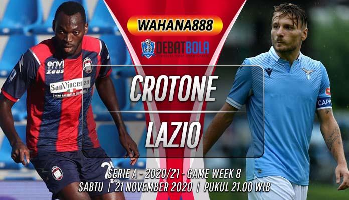 Prediksi Crotone vs Lazio 21 November 2020