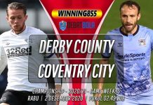 Prediksi Derby County vs Coventry City 2 Desember 2020
