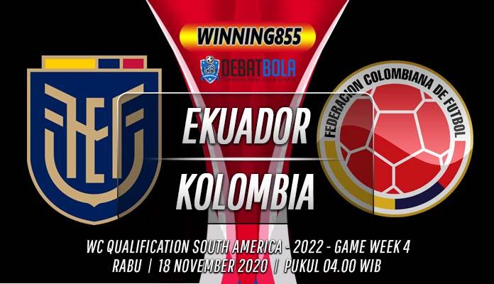 Prediksi Ekuador vs Kolombia 18 November 2020