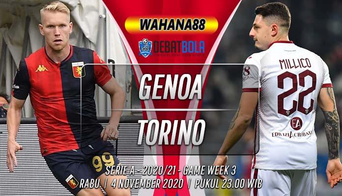 Prediksi Genoa vs Torino 4 November 2020