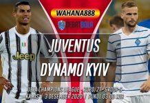 Prediksi Juventus vs Dynamo Kyiv 3 Desember 2020