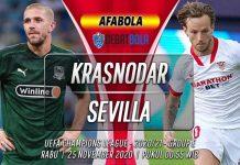 Prediksi Krasnodar vs Sevilla 25 November 2020